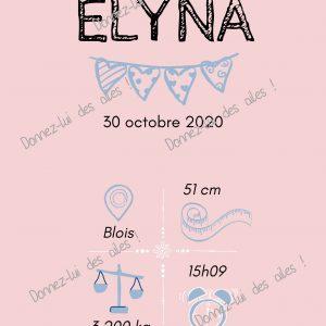 Affiches de naissance personnalisées